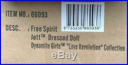 12 Dynamite Girls Free Spirit Jett Dressed DollLove RevolutionNIBNRFB