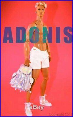 Adonis Gym Boy Mizi & Friend Mascular Male Fashion Doll Blonde Hair Latin NEW
