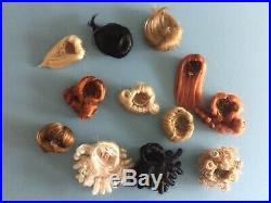 Fashion Royalty And Silkstone Barbie Wig Lot 12 Wigs! Every Style & Color