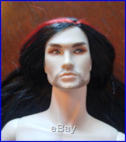 Integrity Toys Fr Acheron Dark Hunter Nude Doll Black Hair Red
