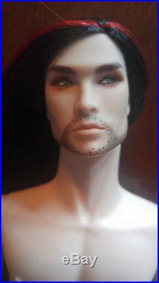 Integrity Toys Fr Acheron Dark Hunter Nude Doll Black Hair Red Streak Flaw